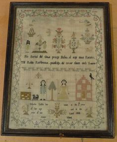 Sampler Worked By Martha Lello Aged 9 In 1808 At Aston School  Wish these things were still taught/passed down...