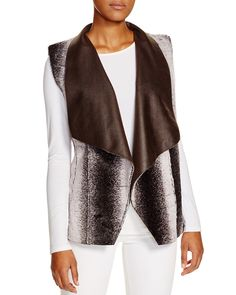 Sienna Rose Reversible Ombre Faux Fur Drape Vest - Compare at $165