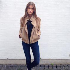 """""""Lækker kort uld jakke fra Calvin Klein og skinny jeans fra Hilfiger Denim  @loftetaalborg #loftetaalborg #calvinklein #hilfigerdenim #aw15"""""""