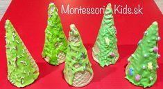 Vianočné stromčeky zo zmrzlinových kornútkov