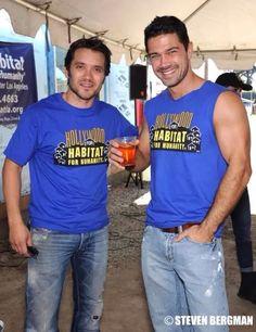 Dominic Zamprogna (Dante Falconeri) and Ryan Paevey (Nathan West), General Hospital #GH #GeneralHospital