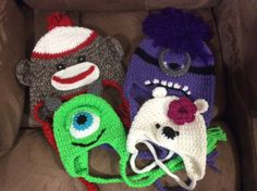 Sock monkey, evil minion, bear and Mike!