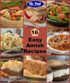 Easy amish dessert recipes