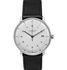 Junghans Max Bill Stainless Steel and Leather Automatic Watch | MR PORTER