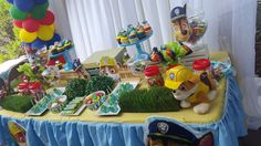 Paw Patrol birthday party! See more party ideas at CatchMyParty.com!