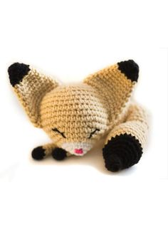 Fennec Fox #amigurumi #crochet #pattern OMG!!! I'm soooooo gonna make this!!!!!!