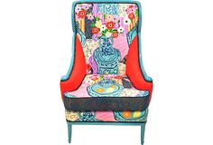 Sanderson Still-Life Wing Chair $1,495.00 on OneKingsLane.com