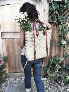 French market basket tote