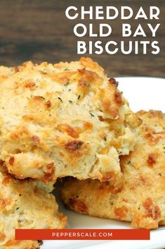 These cheddar Old Bay biscuits match feel good food with Chesapeake Bay spice raising the bar for every other Bisquick biscuit recipe on the planet via pepperscale Bisquick Recipes Biscuits, Cheddar Bay Biscuits, Biscuit Recipe, Recipe With Bisquick, Biscuit Mix, Buttermilk Biscuits, Maryland Recipe, Feel Good Food, Clean Eating Snacks