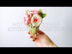 Mother's Day buttercream flower cone - how to make by Olga Zaytseva /CAKE TRENDS 2017 #14 - YouTube