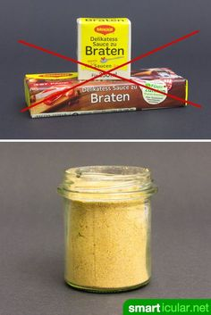 Und Tschüss Soßenpulver: Instant-Bratensoße selber machen Goodbye to artificial flavors and other additives! With this simple recipe you can easily make your own stirring powder for dark sauces. Weigt Watchers, Comida Diy, Maggi Fix, Cuisines Diy, Homemade Sauce, Pudding Recipes, Diy Food, Soul Food, Food Hacks