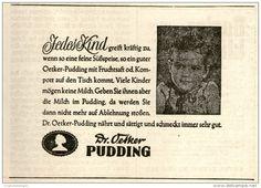 Original-Werbung/ Anzeige 1949 - DR. OETKER PUDDING  -ca . 130 x 90 mm