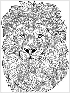Lion Mandala Coloring Pages. 30 Lion Mandala Coloring Pages. Lion Mandala Drawing Adults Coloring Page Adults Coloring Lion Coloring Pages, Doodle Coloring, Mandala Coloring Pages, Printable Coloring Pages, Coloring Pages For Kids, Coloring Books, Kids Coloring, Online Coloring, Mandalas Painting