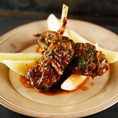 Spezzatino - Sicilian Braised Lamb Chops with Lemon-Olive Oil Potatoes Recipe on Rachael Ray show.
