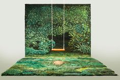 Argentine artist Alexandra Kehayoglou crafts wool rugs as unique works of art using a hand-tufting process that takes several months to complete. The rugs imitate miniature pastures and meadows incorporating their textured, multicolor terrains. Each rug is made from discarded or excess thread from her family's carpet factory in Buenos Aires and are inspired by …