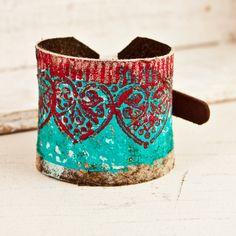 Leather Buckle Cuff Bracelet Wristband Distressed Primitive Rustic Jewelry Cuffs Eco Friendly