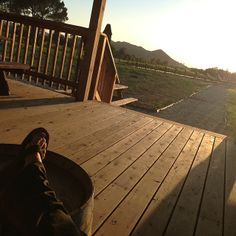 Sunset. Port. Could it get any better at Agua Dulce Winery!