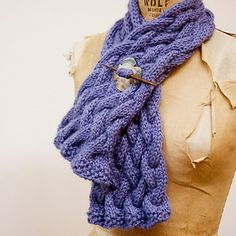 easy cable knit scarf