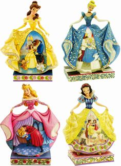 4 of the Disney Princesses by Jim Shore Deco Disney, Walt Disney, Cute Disney, Disney Magic, Disney Statues, Disney Figurines, Collectible Figurines, Disney Wedding Dresses, Disney Dresses