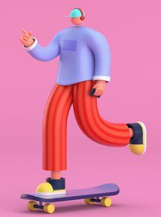 Research on Behance Rabbit Illustration, Character Illustration, Graphic Illustration, Illustrations, Simple Character, 3d Character, Character Concept, Motion Design, Design Thinking