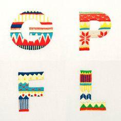 Sweater Letter - Family Set by MaricorMaricar , via Behance