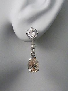 Earring Jackets For Studs 14k White Gold Dangle By Earcuffs 179 00 Earrings