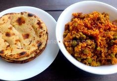 Spicy curry and Roti from Rajasthan