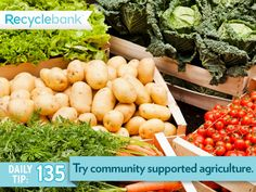 Are you living in a city? Try community supported agriculture (CSA) to get local vegetables.