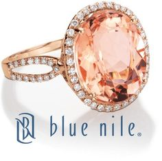 Worn by Blake Lively on Gossip Girl, the Blue Nile Morganite and Diamond Ring in 14k Rose Gold.
