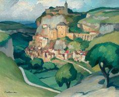 Gaston BALANDE 1880-1971 ROCAMADOUR Huile sur toile signée en bas à gauche