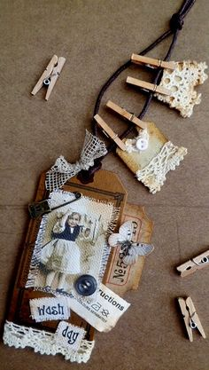Fun site; paper and fabric tags