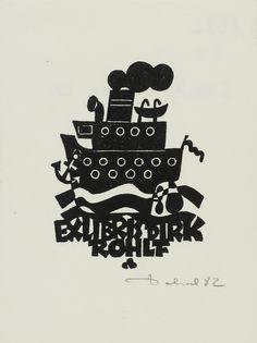 Art-exlibris.net - exlibris by Zbigniew Dolatowski for Dirk Rohlf