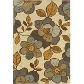 "Found it at Wayfair - Bali Ivory/Grey Floral Rug, 3'7"" x 5'6"", $69.00. SKU #: OW5123 for front exterior entry."