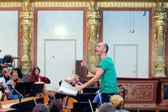 Dia aberto no Musikverein de Viena, comemorando 200 anos da Sociedade de Amigos da Música de Viena. Ensaio da orquestra.  Fotografia: Dieter Nagl.