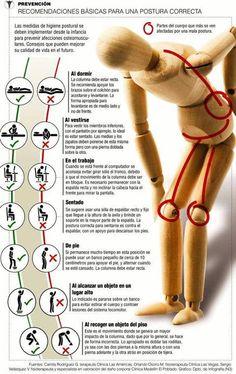 Postura correcta y evita dolores de espalda