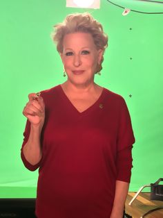 The always fabulous Bette Midler wears her support for Got Your 6 on the set.