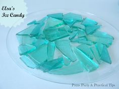 Elsa's Ice Candy Tutorial - just use golden syrup instead of corn syrup
