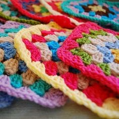 Granny Squares are fun and quite simple. Here's a free pattern.