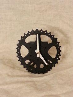 recycled bicycle desk clock bike clock bike desk clock unique gift bike gifts unique gifts desks and bikes