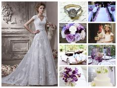 Vintage with different shades of purple