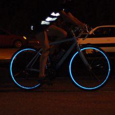 Reflective Wheel Stripes - Blue