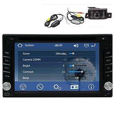 Wireless Backup Camera +GPS Navigation Windows CE 6.0 6.2 Inch Double In Dash Car Stereo Radio Auto Audio Video Automotive CD/DVD/Mp3…
