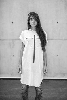 Spring Summer 2016 editorial. Featuring model Elodie Sogan in UNDER/CONSTRUCTION by Eliran Ashraf. Shot by Alex Pittet in Geneva. Spring Summer 2016, White Dress, Menswear, Trending Outfits, Geneva, Womens Fashion, Model, Editorial, Cotton