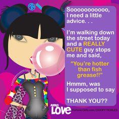 Hahahahaah. . .Well, he was cute! :D #fortunegirls #FGgoofytickles #oprahwinfrey #ellendegeneres
