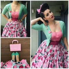 My Week In Outfits! - Miss Victory Violet Rockabilly Moda, Rockabilly Vintage, Rockabilly Fashion, Retro Fashion, Vintage Fashion, Rockabilly Style, 1950s Fashion Women, Vestidos Vintage, Vintage Dresses