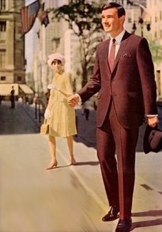 A very cool 60s suit...people dressed up to go out in public