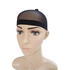 Longqi Beauty 3 Pack Open end Black Weaving Stretchable Net Wig Cap Hairstylevids - Videos, Tutorials, Discounts #hair #hairstyle #hairdo #hairproduct
