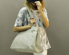 Sale!!! Large leather tote bag Leather tote GREY leather bag distressed leather tote by limorgalili. Explore more products on http://limorgalili.etsy.com