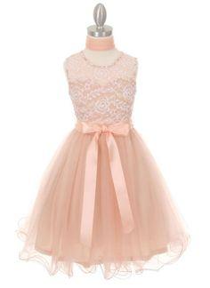 Flower girl s lace dress Prom Girl Dresses db107f1c0744