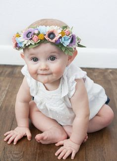 Let your little lady shine at her next photo shoot! Here at Little Sugar Snap we absolutely LOVE our felt flower crowns, they arent simple in